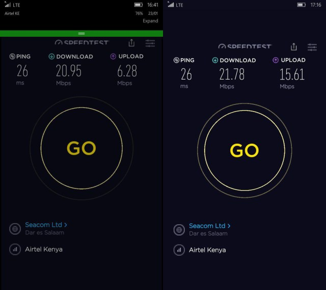 Airtel 4G Speedtest