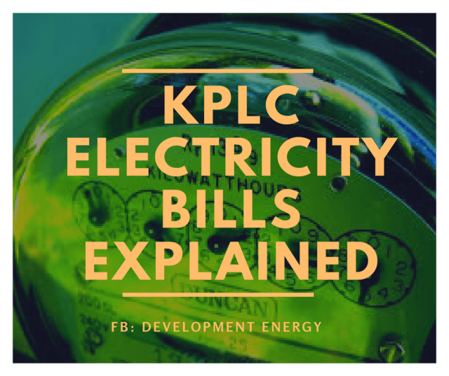 KPLC Electricity Bills Explained