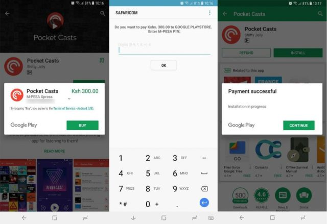 M-Pesa Xpress Google Play Store