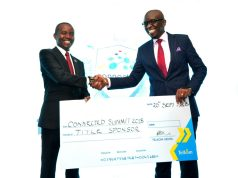 JOE MUCHERU (CS.MINISTRY OF ICT) KRISS SENANU (MD,ENTERPRISE TELKOM KENYA