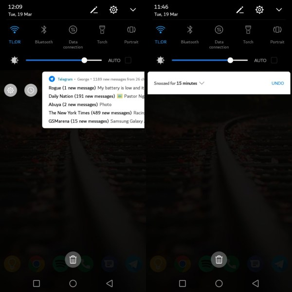 Snoozed Notifications
