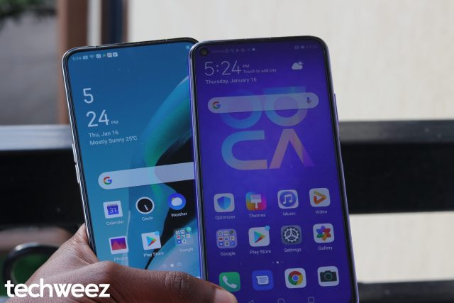 Huawei Nova 5T OPPO Reno 2F Display
