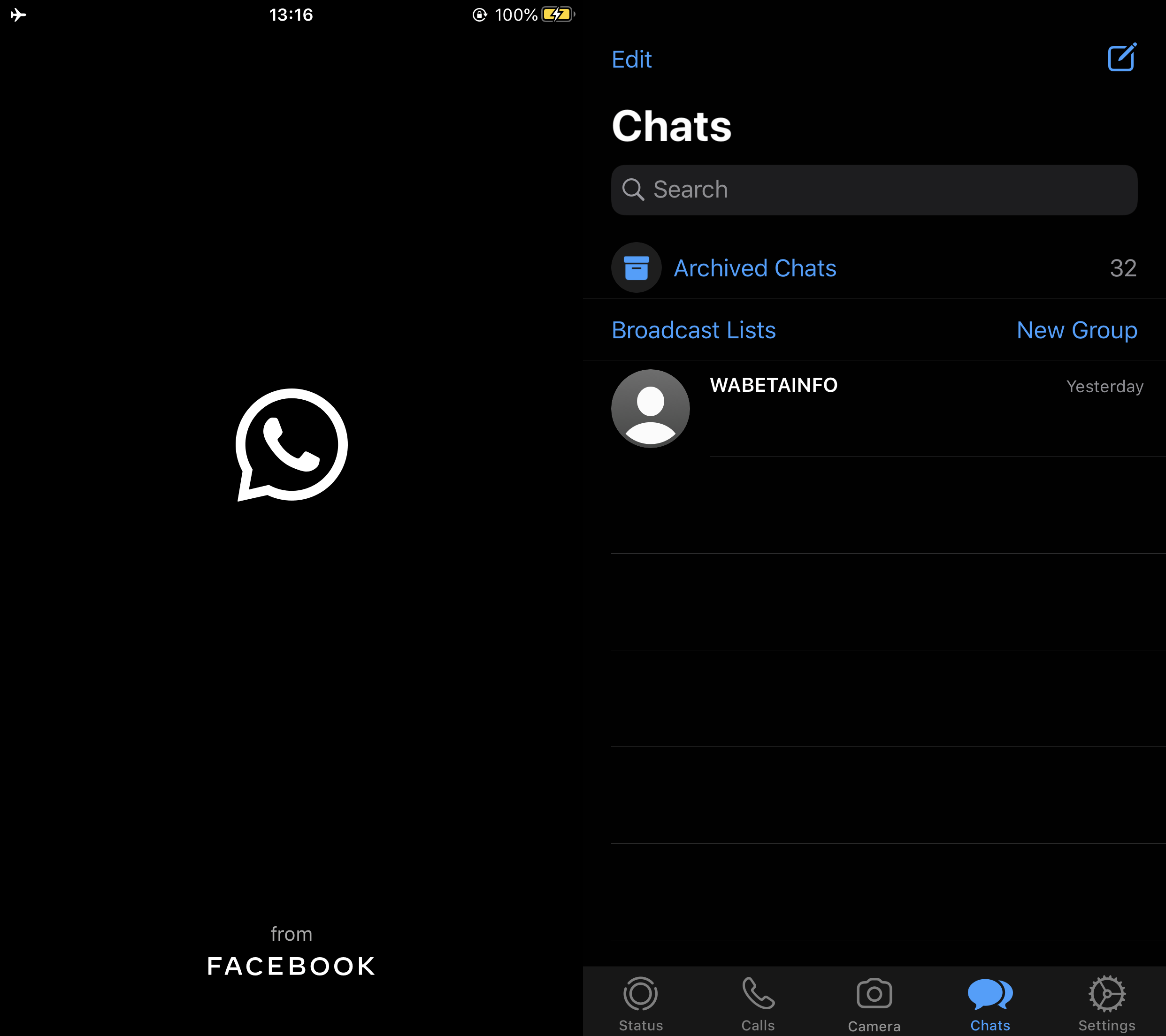 WhatsApp's latest iOS beta update brings dark mode, advanced search