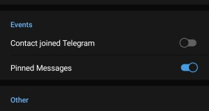 contact joined telegram toggle