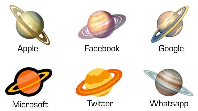 Whatsapp wins saturn emoji contest