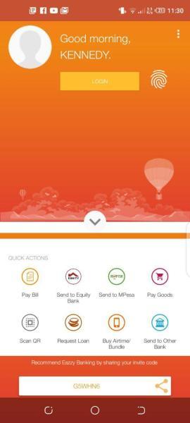 Eazzy Banking App Fingerprint