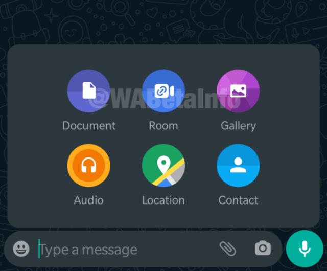 WhatsApp share sheet
