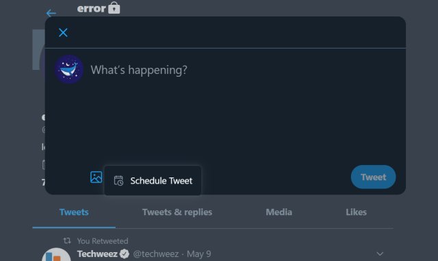 Tweet Scheduling