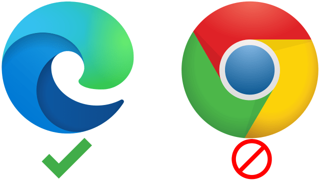 Chrome Microsoft Edge