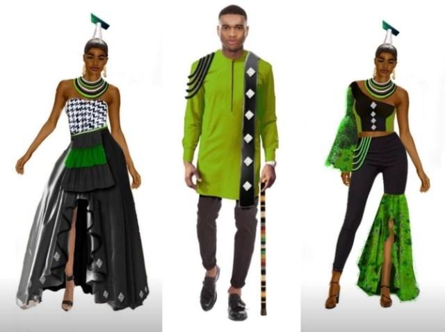 Sally Karago fashion designs in partnership with Infinix Zero 8 launch