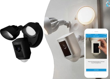 Ring Floodlight Cam Outdoor Security Camera with Motion-Activated HD
