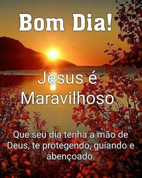 Bom dia, confie em jesus,ele é maravilhoso