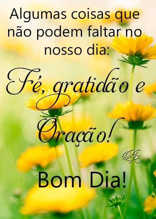 Com gratidão e muito amor bom dia!