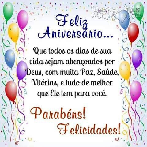 Felicidade, parabéns, feliz aniversário!