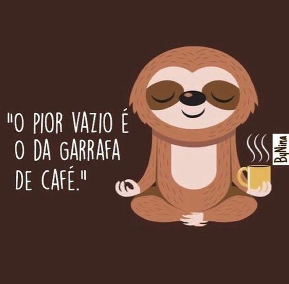 O pior vazio é o da garrafa de café