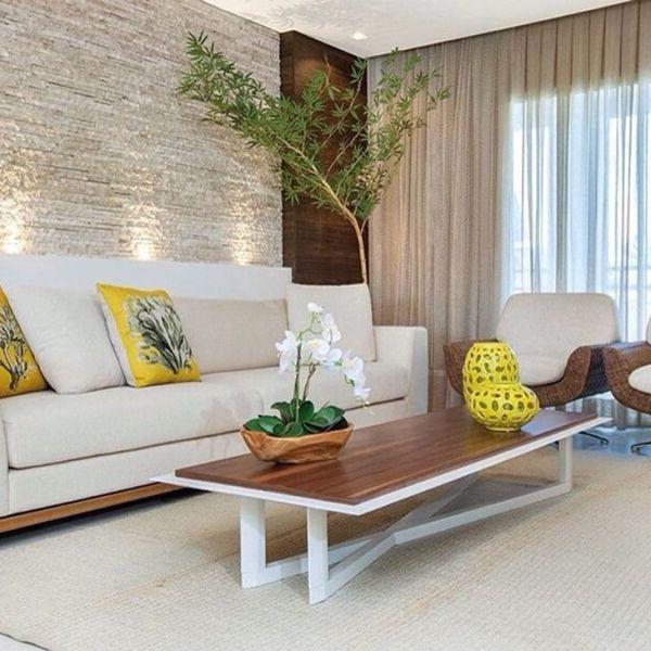 Sala de estar linda para uma casa moderna.