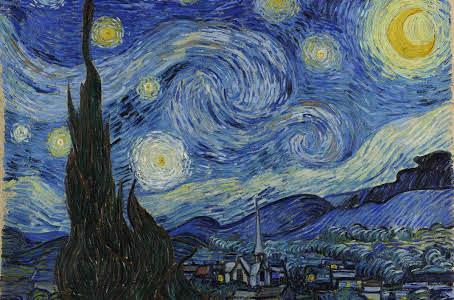 A noite estrelada de Van Gogh