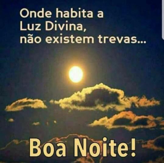 Boa noite na paz e na luz de Deus