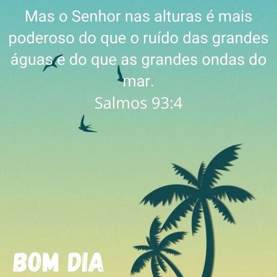 Bom dia Salmos 93:4