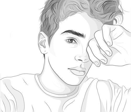 Desenho de menino tumblr.