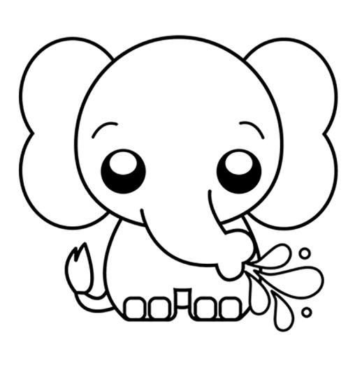 vamos colorir o elefante.