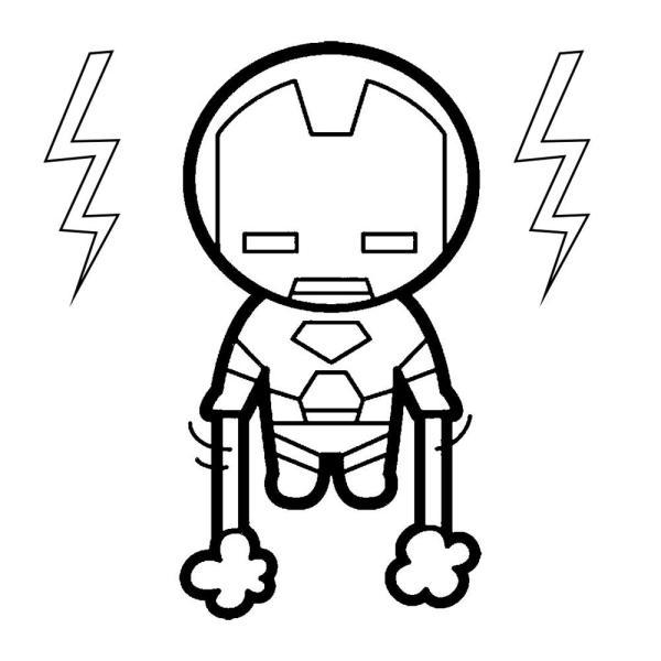 super heróis desenho kawaii.