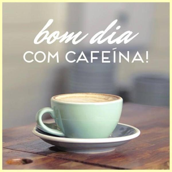 Um  bom dia bem fofo com café.