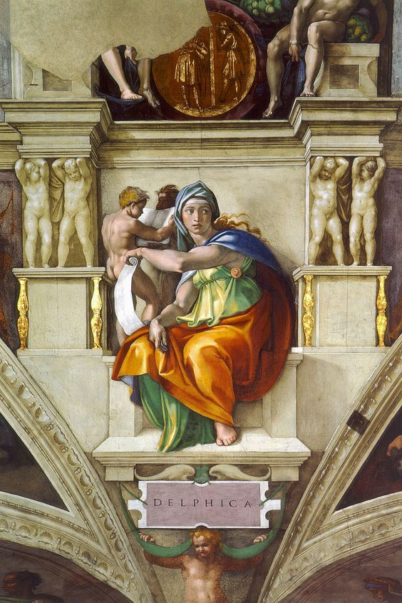Siliba Délfica pintura Michelangelo