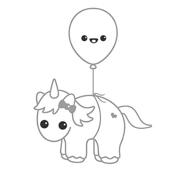 Desenho do unicórnio fofo kawaii.