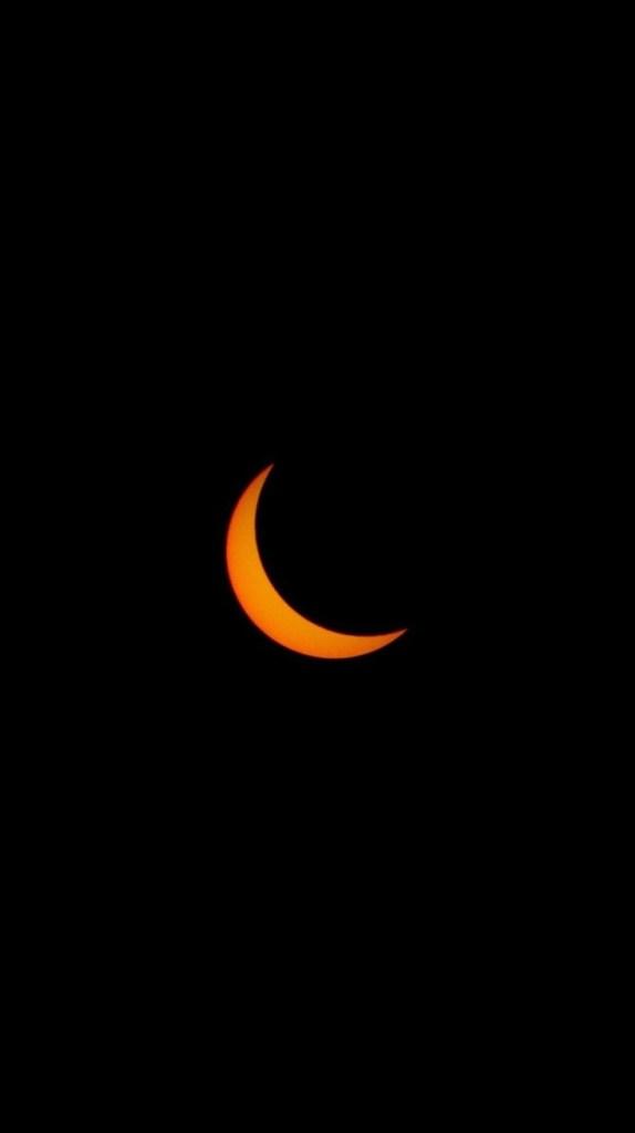 a lua crescente laranja