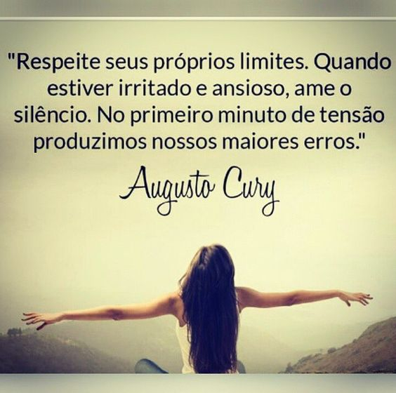 mensagem de Augusto Cury