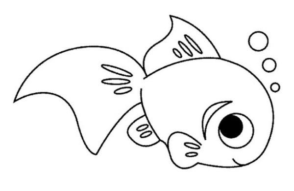 Que desenho fofinho desse peixinho.