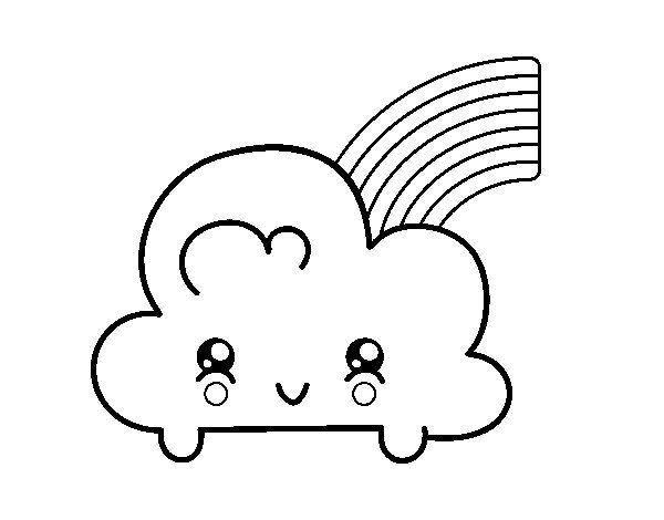 Desenho fofo da nuvem tumblr