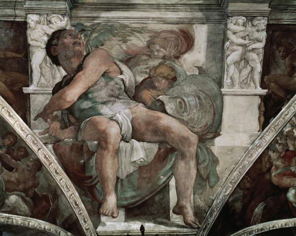 O profeta obra do Michelangelo.