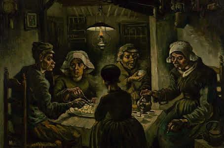 Os comedores obra de Van Gogh