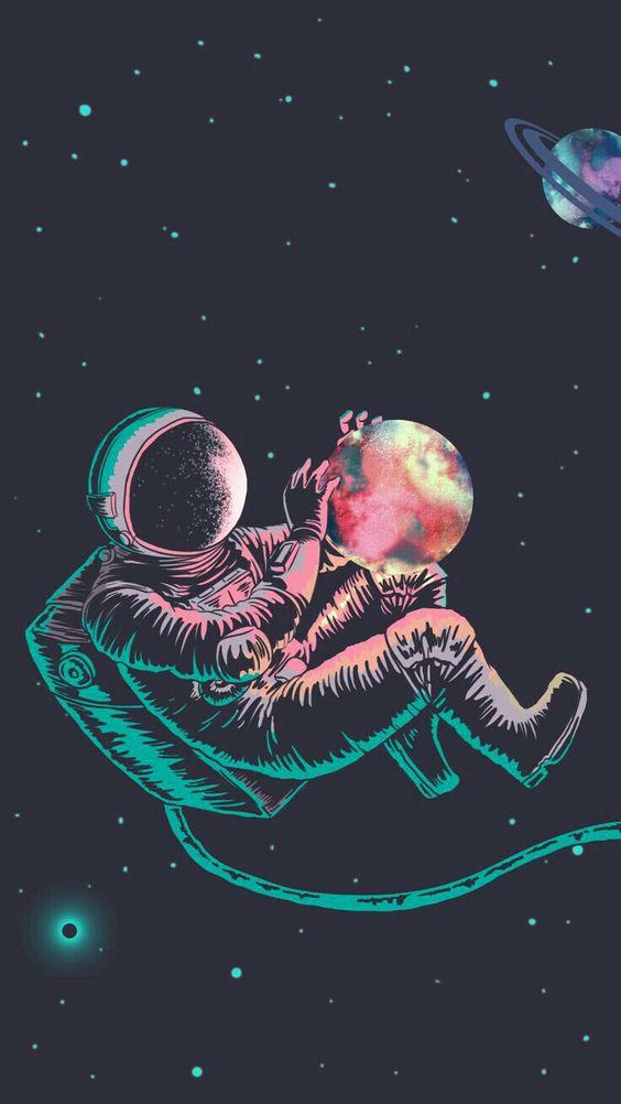 papel de parede, astronauta