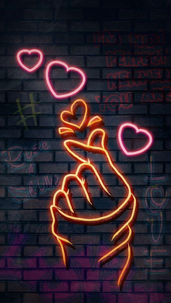 papel de parede, corações