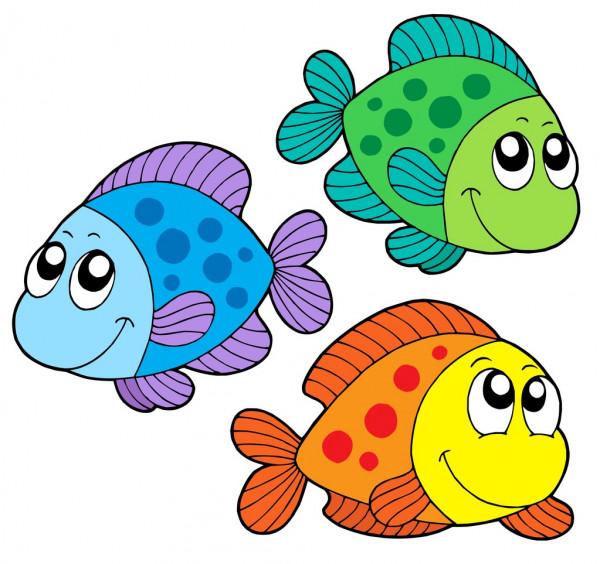 peixinhos divertidos e coloridos.