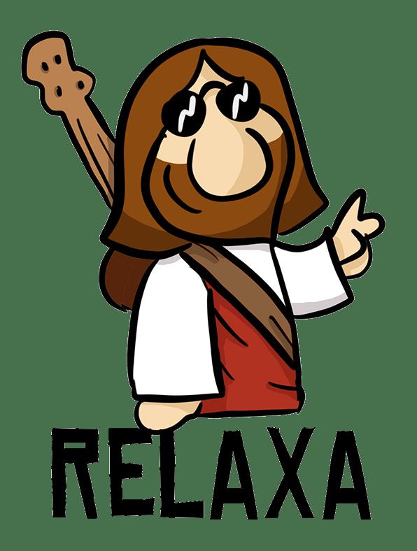 Relaxa estou na paz.