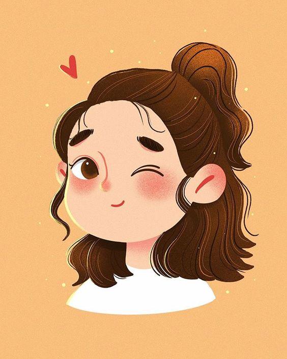 Top desenho girl kawaii;
