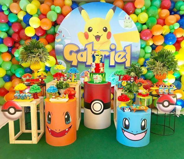 Tema de decoração do pikachu.