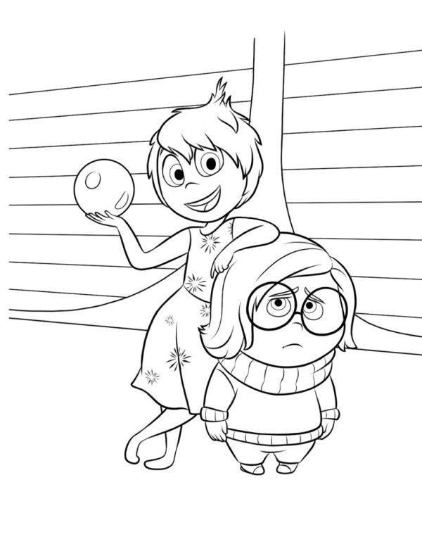 Desenhos animados alegre e tristeza