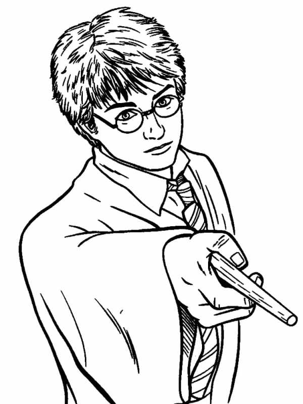 Desenho para colorir do Harry potter.