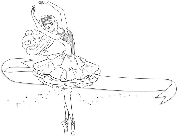 desenho barbie lindo para colorir