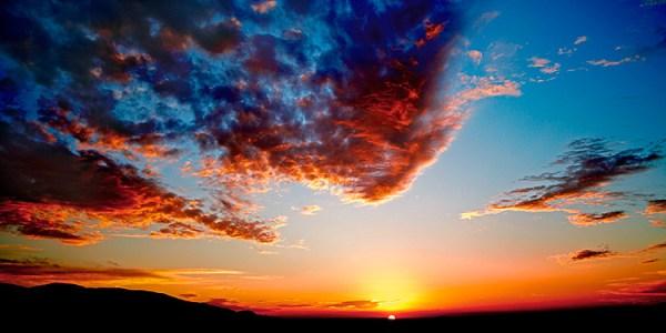 paisagem do céu laranja