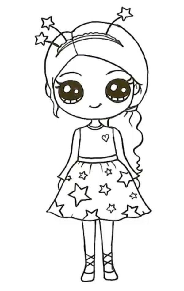 desenho da boneca estrela kawaii tumblr