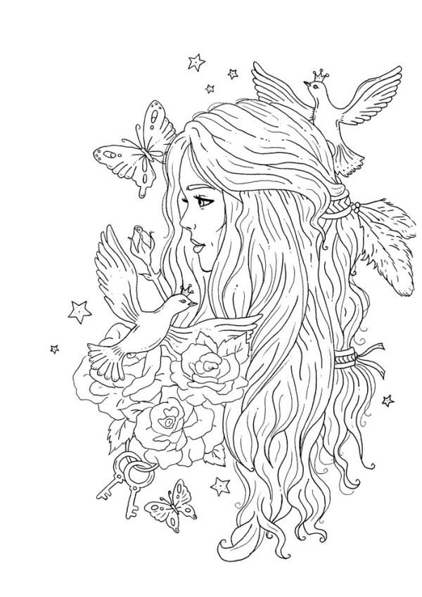 Desenho lindo e tumblr para colorir.
