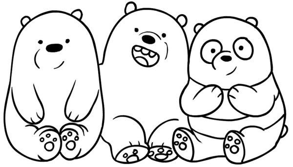 Imagem de desenhos de ursos para pintar