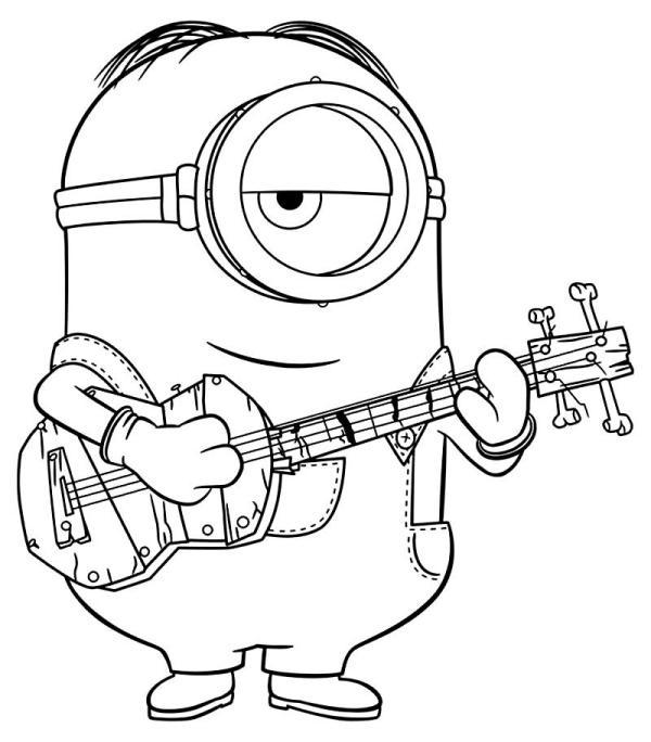 cantor desenho do minions