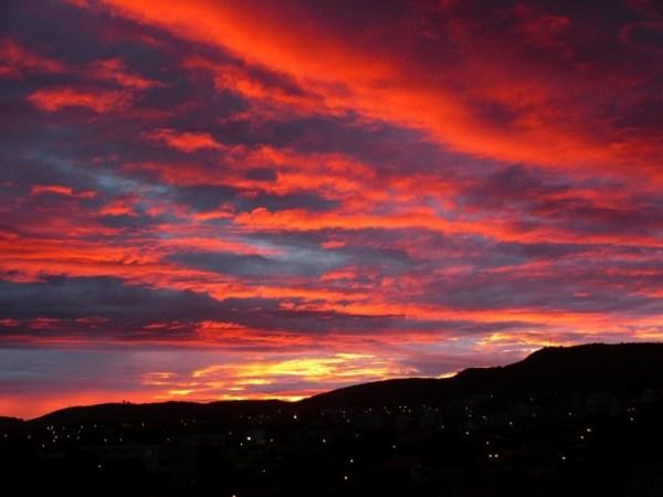 paisagem do céu misturado